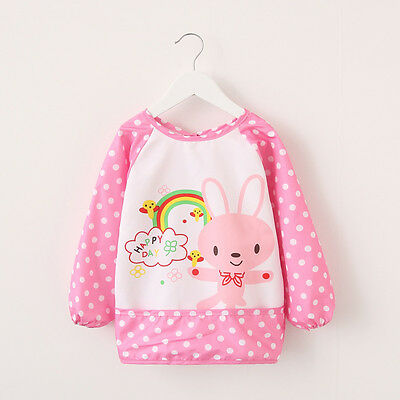 Kids/Children's Bib/Smock for Art,Craft,Painting,Drawing,Eating (Ages 2-4)
