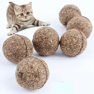 Pet Cat Toys Natural Catnip Healthy Funny Treats Toy Ball For Cats Kitten GB