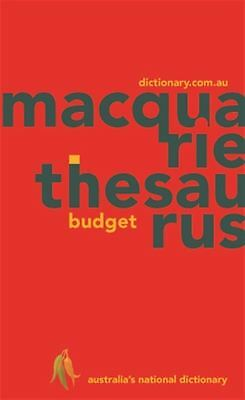 Macquarie Budget Thesaurus (PVC) by Macquarie Dictionary - Paperback - NEW