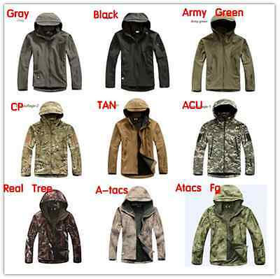 Men TAD Gear Soft shell Fleece tactical jacket camouflage hunting garment Clothe