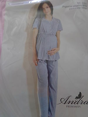 Pregnancy Pajamas 38,40,42,44 pink 100% Cotton of ANDRA DREAMWEAR NEW