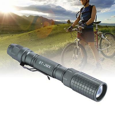 bronze 8000LM Zoomable CREE XM-L T6 LED Flashlight Focus Torch Lamp Light JS
