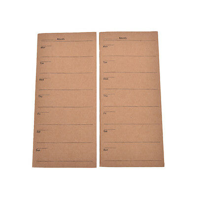 24 Sheets Kraft Cover Weekly Planner Paper Notebook Note Simple Design Office SP