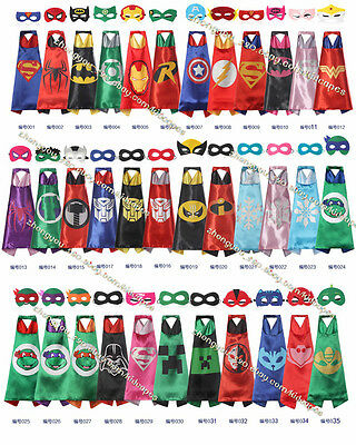 Superhero Cape (1 cape+1 mask) for kids birthday party favors and ideas*