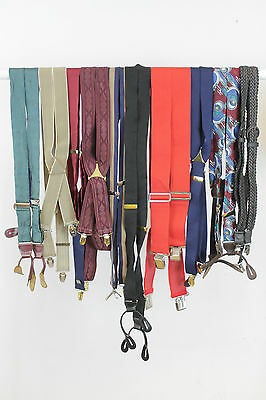 10 X Vintage Braces Job Lot. Mix Of Styles And Colours.