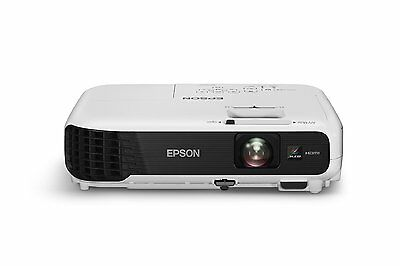 Epson EB-S04 LCD Projector 3000 Lumens, 800 x 600 Res, Integrated Speakers