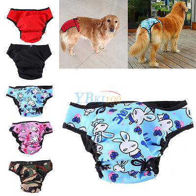 Washable Large Dog Diaper Nappy Anti-harassment Sanitary Protector Pants CL