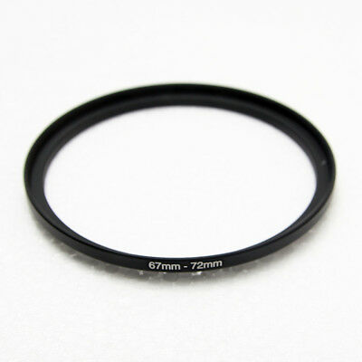 67mm-72mm Lens UV CPL ND Filter Metal Step Up Ring Adapter