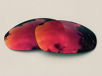 New Engraved Polarized Ruby Red Custom Mirrored Replacement Oakley Juliet Lenses