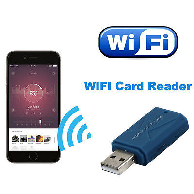 Mini Wireless WiFi Disk USB SD Storage Adapter For iPhone Android Card Reader