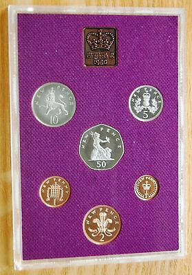 Royal Mint UK 1980 Proof Coinage Of Great Britain 6 Coin Set No Outer Sleeve #
