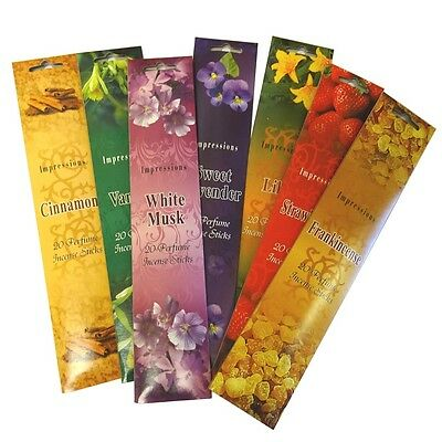 Impressions Incense Joss Sticks in Pouch Packets 20 Sticks