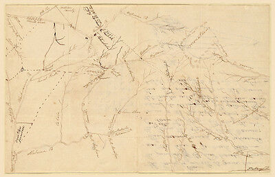 1816 Creek Indians Map of Alabama & Georgia