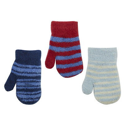 Infant Baby Boy New Thermal Scratch Mittens Warm Winter Gloves Soft Mitts NEW UK