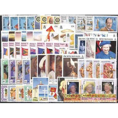 Collection de 64 timbres neufs Iles Vierges