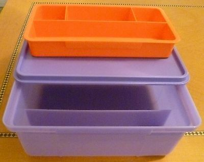 Tupperware FREE SHIPPING NEW Universal Storage Box with Insert  21x16x8 cms