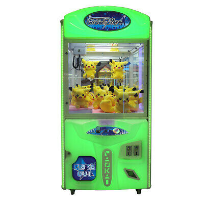 "Coastal Amusements Green 40"" Showtime Crane Claw Prize Redemption Machine no DBA"