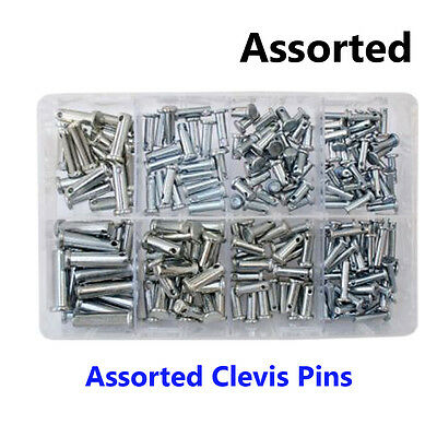 Assorted Box Of Clevis Pins 8 Sizes Box of 200pc NEW