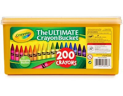 Crayola 200 Crayons The Ultimate Crayon Bucket New!!! Free Shipping