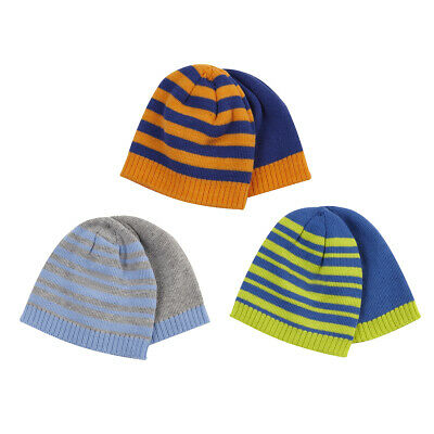 Infant Toddler Baby Boys Girls New 2 Pack Beanie Hat Cap Bundle Winter Warm UK