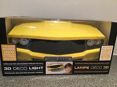 3D DECO LIGHT Muscle Car Yellow