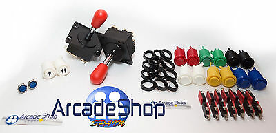 Kit Arcade  Joystick Americano  Recreativas Para Mame Y Raspberry