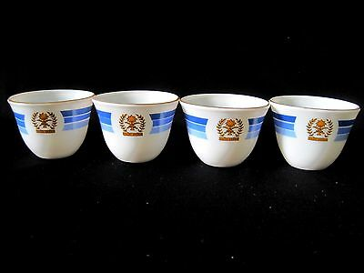 Saudi Arabia Tea Cup Gold Palmetto Palm Tree Crossed Sword Scimitar Blue White