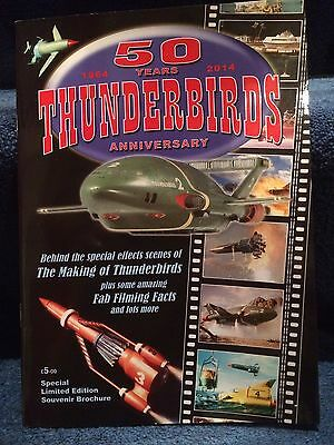 THUNDERBIRDS 50 year Anniversary signed by Alan Shubrook Booklet Gerry Anderson