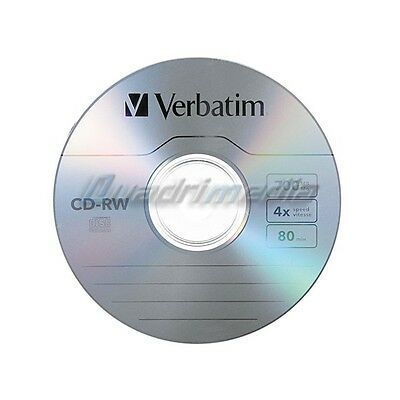 Cd-Rw 700 Mb / 80 Mn Verbatim 8-12X Réinscriptible - Bundle