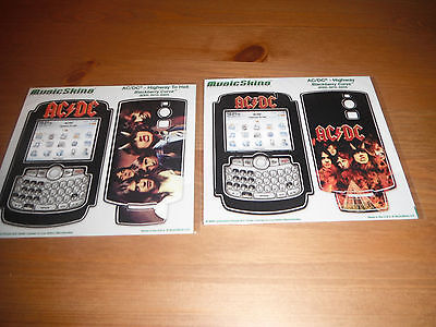 AC/DC set of 2 music skins COVERS mini stick on posters FOR - BLACKBERRY CURVE