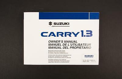 Genuine Suzuki Carry Van GA413 Owners Manual 99011-76A20-012