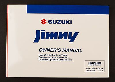 Genuine Suzuki Jimny SN HTOP Owners Manual 99011-81A26-01E