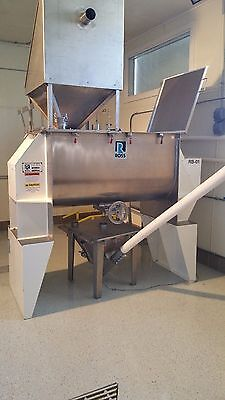 Ross Ribbon Blender 25 cu foot Heavy Duty Stainless with gearbox transmission
