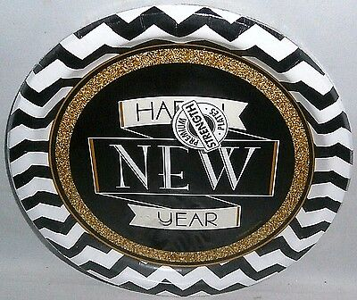 "New Years Eve Paper Plates 8 ct   8 3/4"" Plates  MIDNIGHT CELEBRATION"