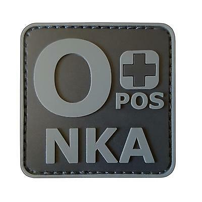 O+ OPOS NKA PVC rubber subdued ACU blood type tactical morale hook patch