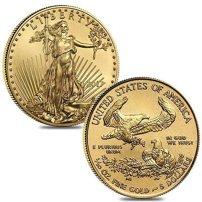 Lot of 2 - 2017 1/10 oz Gold American Eagle $5 Coin BU