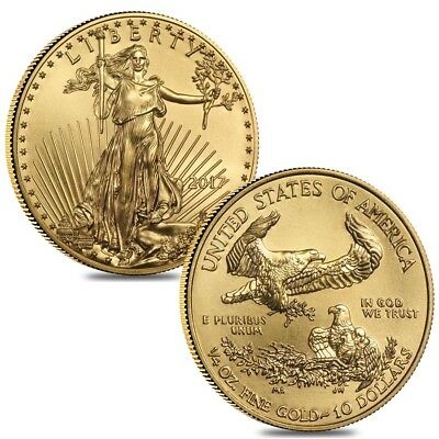 Lot of 2 - 2017 1/4 oz Gold American Eagle $10 Coin BU