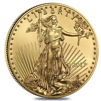 2017 1/2 oz Gold American Eagle $25 Coin BU