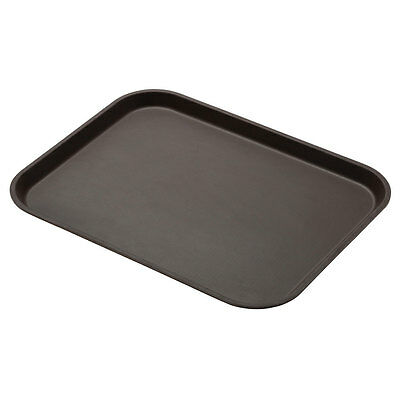 "Cambro 1418CT138 Case of 12 - 14""x18"" CamTread Serving Tray Tavern Tan"