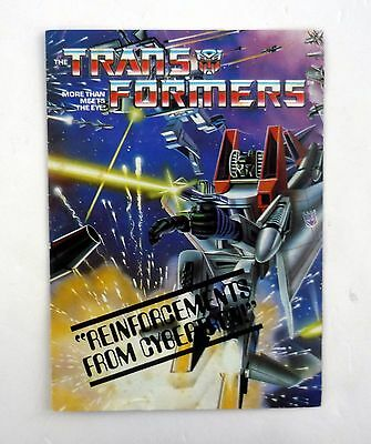 TRANSFORMERS REINFORCEMENTS FROM CYBERTRON CATALOG BOOKLET Vintage G1 1984