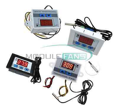 12V 24V 220V Digital LED Temperature Controller Thermostat Control Switch Probe