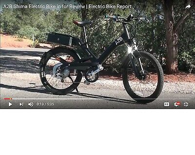A2B Shima  pedal assist high speed racing ebike with turbo torque button