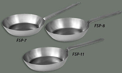 Winco 12In French Style Carbon Steel Pan - Fsfp-12