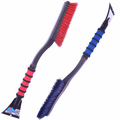 "Mallory 532 26"" Strong Durable Snow Brush & Ice Scraper w/Foam Grip -Red or Blue"