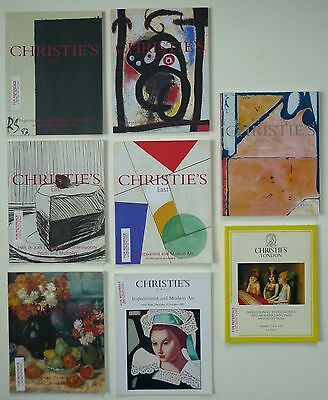 8 CHRISTIE'S auction CATALOGUES Impressionist Expressionist Modern Art