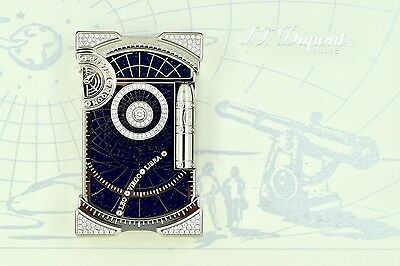 ST Dupont Shoot the Moon Jules Verne Diamond Collection Limited Edition Lighter