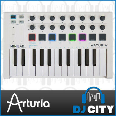 Arturia MiniLab-mk2 MIDI Keyboard 25 Key iOS Compatible w/ Analog Lab Lite