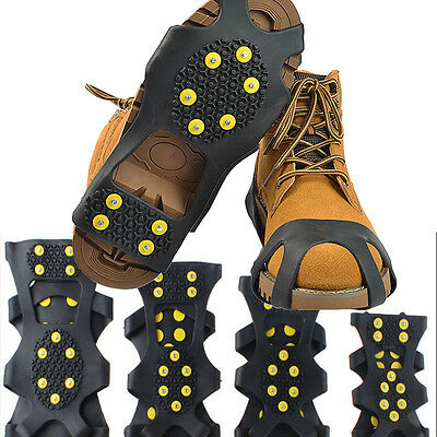 US Cleats Over Shoes Studded Snow Grips Ice Grips Anti Slip Snow Shoes Crampons
