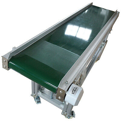 Durable Green Best PVC Inclined Wall Conveyor Belt 110V Used For Packing New Hot