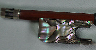 New Pernambuco viola Bow Abalone shell Frog silver mounted Round 4/4 F19
